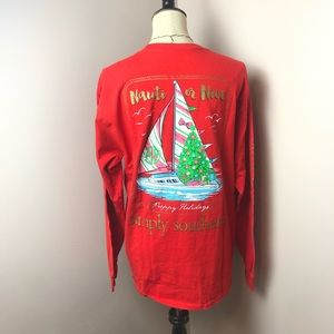 Simply Southern Holiday Long Sleeve Tee Large